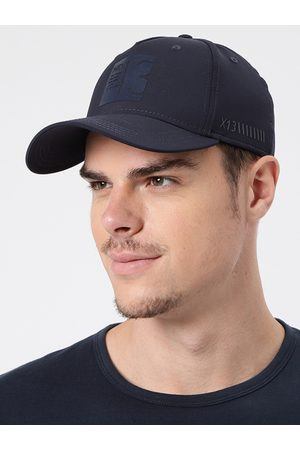 HRX Men Navy Blue Solid Baseball Cap