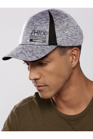 HRX Men Grey Melange Solid Training Dry Fit Sweatband Cap
