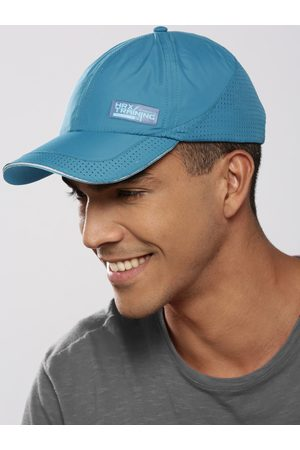 HRX Men Teal Blue Solid Training Dry Fit with Sweatband Cap