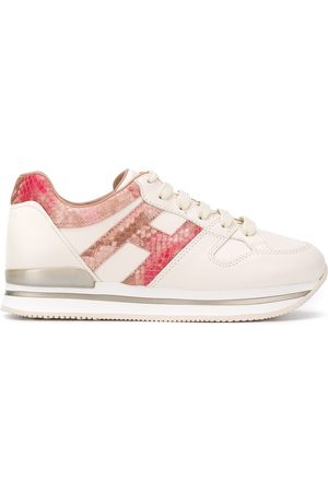 Hogan Women Sneakers - Snakeskin-effect low-top trainers