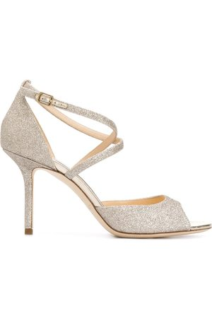Jimmy choo Emsy 85mm glitter sandals