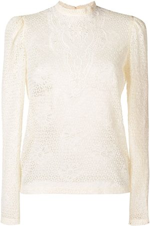 Serafini Lace embroidered blouse