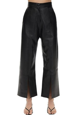 MATÉRIEL by Aleksandre Akhalkatsishvili Cropped Faux Leather Straight Leg Pants