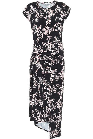 Paco rabanne Floral stretch-jersey midi dress