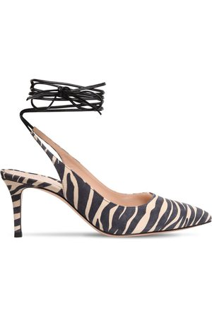Gianvito Rossi 70mm Zebra Print Suede Lace-up Pumps