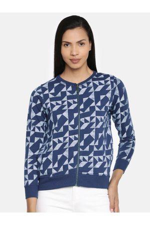 Pepe Jeans Women Blue Printed Sweatshirt