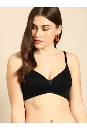 DressBerry Black Solid Non-Wired Non Padded Everyday Bra DB-G708-BRA-004C