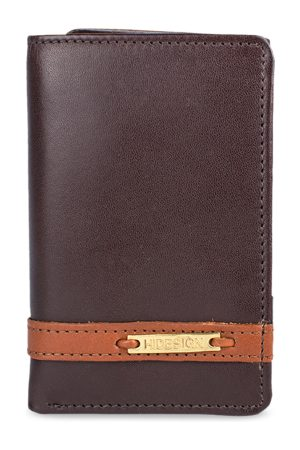 Hidesign Men Brown Solid Three Fold Leather Wallet