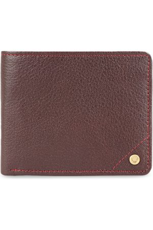 Hidesign Men Red Solid Leather Two Fold Wallet