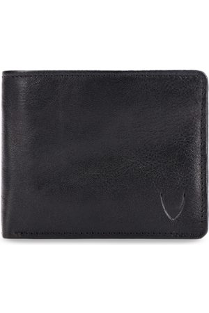 Hidesign Men Black Solid Leather RFID Protected Two Fold Wallet
