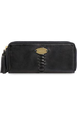 Hidesign Women Black Solid Leather Zip Around Wallet