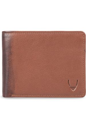 Hidesign Men Tan & Brown Solid Two Fold Leather Wallet