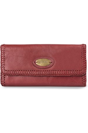 Hidesign Women Maroon Solid Leather Two Fold Wallet