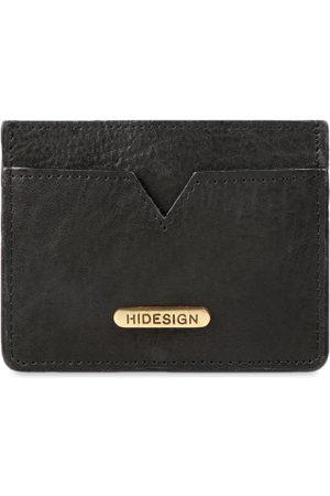 Hidesign Men Black Solid Leather Card Holder