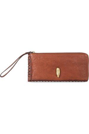 Hidesign Women Tan Brown Solid Leather Zip Around Wallet