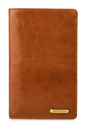 Hidesign Men Tan Brown Solid Leather Two Fold Wallet