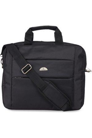 KARA Men Black Solid Laptop Bag With Detachable Sling Strap