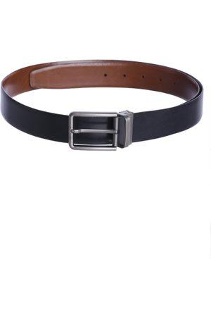 Kara Men Black & Brown Solid Reversible Leather Belt