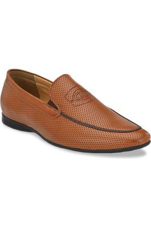 San Frissco Men Tan Brown Slip-Ons