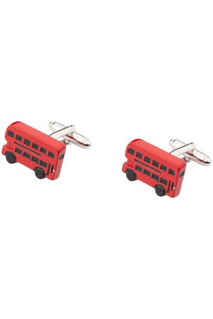 The Tie Hub Men Red Rhodium-Plated Quirky Cufflinks