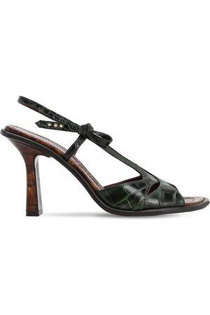 SIES MARJAN 90mm Diana Croc Embossed Leather Sandals