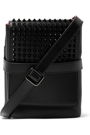 Christian Louboutin Men Bags - Benech Spiked Smooth and Full-Grain Leather Messenger Bag