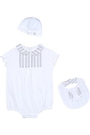 Tartine et Chocolat Baby playsuit, hat and bib set