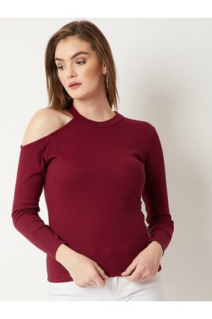 Miss Chase Women Maroon Solid Top