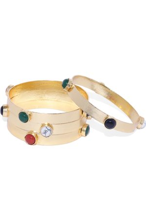 ARUS Women Set Of 4 Gold Toned Bangles