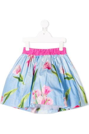Monnalisa TEEN floral mini skirt