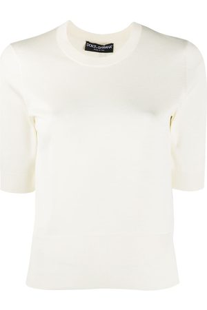 Dolce & Gabbana Half sleeves knitted top
