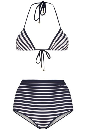 VALENTINO Striped bikini set