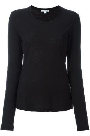 James Perse Women Long Sleeve - Round neck longsleeved T-shirt