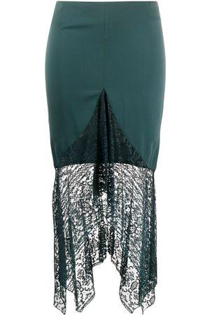 ROMEO GIGLI 1990s lace trim skirt