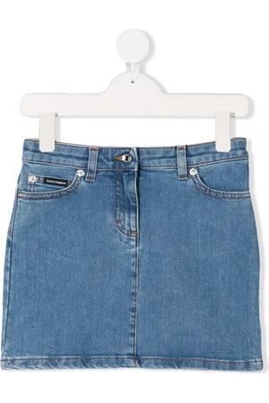 Dolce & Gabbana Girls Denim Skirts - Celeste denim mini skirt