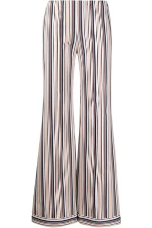 ROMEO GIGLI 1990s striped wide-legged trousers