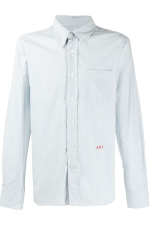 Ami Men Button-Down Boy Fit Shirt A.M.I Front Embroidery