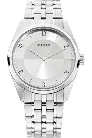 Titan Men Silver-Toned Analogue Watch