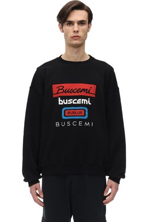 BUSCEMI Oversized Multi Logo Cotton Sweatshirt