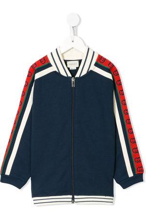 Gucci Contrasting panelled zipped sweatshirt