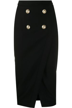Balmain Decorative buttons pencil skirt
