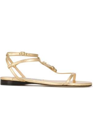 Jimmy choo Logo flat sandals