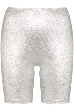 Paco rabanne Metallic logo band cycling shorts