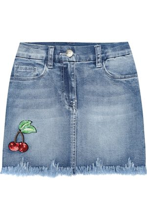 MONNALISA Girls Denim Skirts - Denim miniskirt