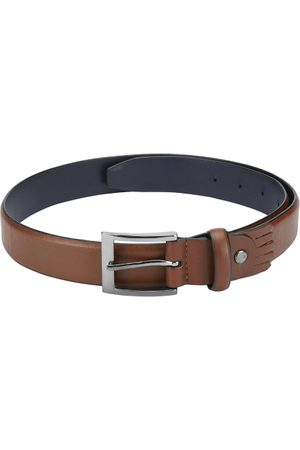 Park Avenue Men Brown Solid Leather Belt