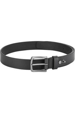 Park Avenue Men Black Solid Leather Belt