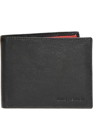 Lino Perros Men Black Genuine Leather Wallet