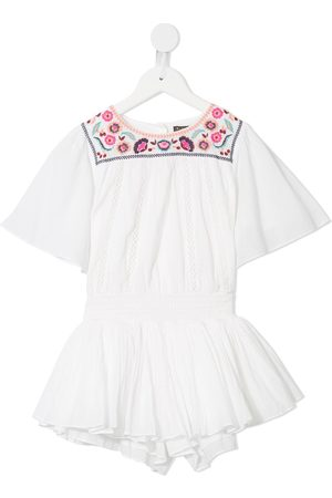 Velveteen Girls Playsuits - Blair floral embroidered playsuit