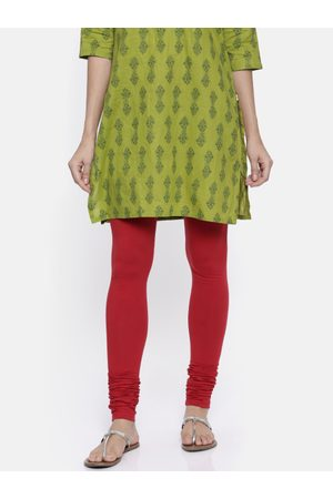 Karigari Women Red Churidar Leggings