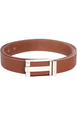 Benetton Men Tan Brown Leather Solid Belt